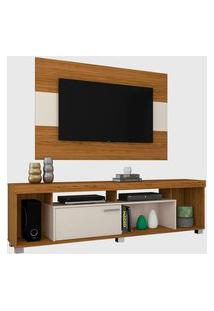 Rack C/ Painel Tomaz Naturale/Off White Madetec
