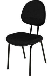 Cadeira Executiva Base Fixa S/ Braã§O C/ Preta - Preto - Dafiti