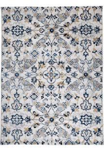 Tapete De Sala Microfibra Leblon Cor 4 1,00X1,50M Edantex Azul