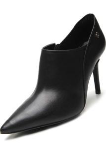 Ankle Boot Couro Capodarte Lisa Preta