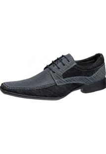 Sapato Social Gasparini Azul/Preto