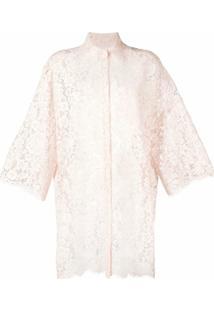 Dolce & Gabbana Blusa Com Renda - Rosa