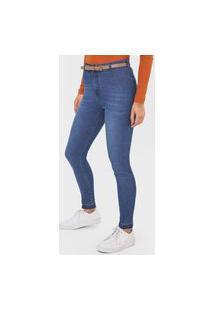 Calça Jeans Hering Jegging Estonada Azul