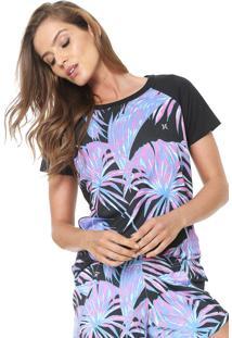 Camiseta Hurley Raglan Preta