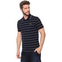 8fbded3f47e Camisa Polo Lacoste Reta Listras Azul-Marinho