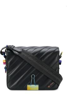 Off-White Diag Binder Clip Shoulder Bag - Preto