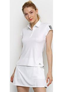 Camisa Polo Adidas Club 3 Stripes Feminina - Feminino