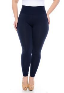 Calça Slim Fashion Plus Size Legging Modeladora Marinho