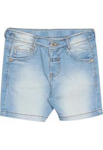 Bermuda Jeans Estonada - Azul & Azul Claro- Oliveroliver