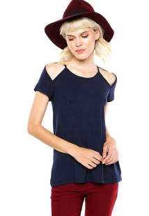 Blusa Fiveblu Lisa Azul Marinho