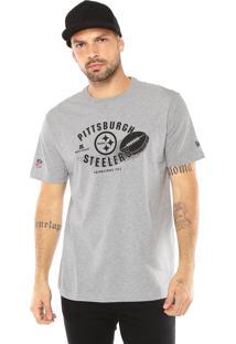 Camiseta New Era Pittsburgh Steelers Cinza