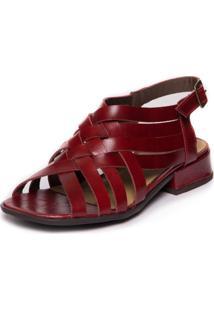 Sandalia Vermelha Mary Jane - Amora 4910-Mj Mzq - Kanui