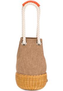 Rodo Rope Detail Bucket Bag - Nude & Neutrals
