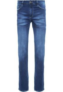 Calça Masculina Slim Damasco 3D - Azul