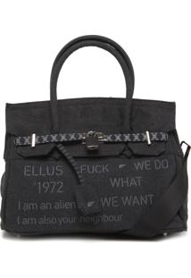 Bolsa Ellus Lettering Preta