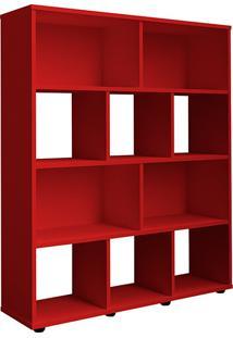 Estante Livreiro Book Organizador Vermelha - Artely