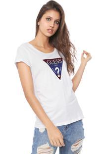 Blusa Guess Logo Degradê Branca