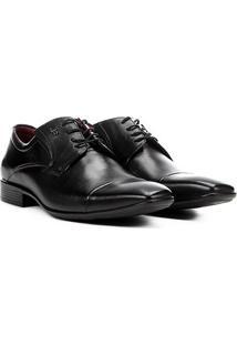 Sapato Social Couro Jorge Bischoff Masculino - Masculino-Preto
