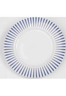 Prato Para Sobremesa Porcelana Schmidt - Dec. Sol Azul