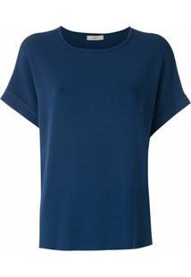 Egrey Blusa De Tricô Costas Franzidas - Azul
