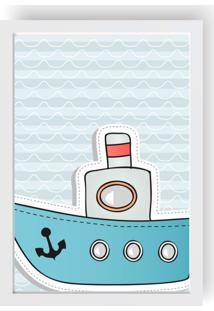 Quadro Love Decor Decorativo Infantil Barco Branco