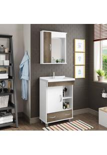 Conjunto De Banheiro Stm Móveis S09 Branco Monastrel Se