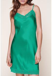 Camisola De Seda - Verde M