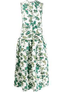 Victoria Victoria Beckham Vestido Com Franzido Frontal - Verde