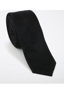 Gravata Super Slim Jacquard Black