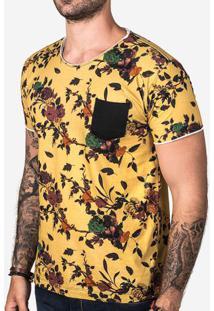 Camiseta Floral Amarela 102815