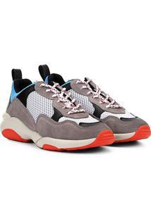 Tênis Chunky Carmim Dad Shoes Maya Feminino - Feminino-Bege+Vermelho