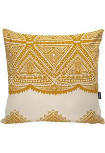 Capa Para Almofada African- Amarela & Bege Claro- 45Stm Home