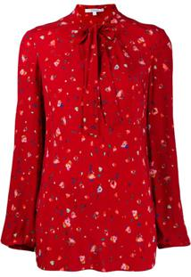 Derek Lam 10 Crosby Blusa Floral - Red Red