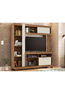 "Estante Para Tv Até 55"" Amazon Buriti/Off-White - Caemmun"