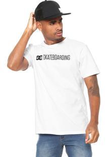 Camiseta Dc Shoes Skateboarding Branca