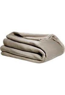 Cobertor Casal Kacyumara Blanket Flannel Dune Cinza
