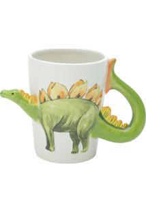 Caneca De Cerâmica Stegosaurus 300Ml Bon Gourmet