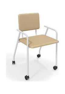 Cadeira Gana Kappesberg Branco Fosco/Nude