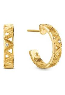 Brinco Icona Ouro Amarelo E Diamantes Pequeno