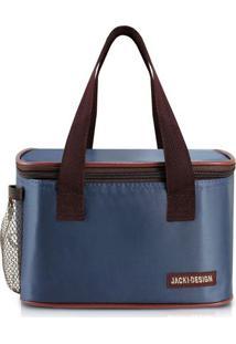 Bolsa Térmica Com Inscrição Da Marca- Azul Marinho & Marjacki Design