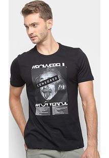 Camiseta All Free Einstein Masculina - Masculino-Preto