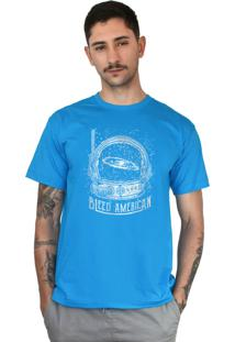 Camiseta Bleed American Galaxy Turquesa