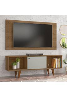 Rack Com Painel Para Tv Atã© 42 Polegadas Salahfreijo E Off White 135 Cm