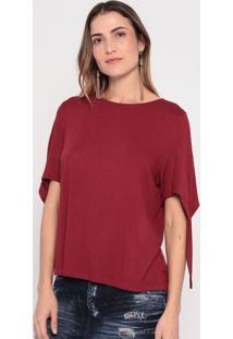 Blusa Com Amarração- Vermelha- Ennaenna