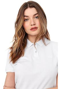 Camisa Polo Carmim Frisos Branca