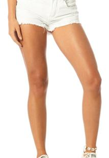 Shorts Jeans Young Denim Zero-Dz6194 - Feminino-Branco