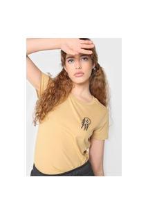 Camiseta Volcom Lock It Up Amarela