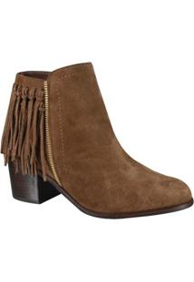 Bota Only Ankle Boot Com Franja