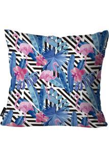 Capa Para Almofada Mdecore Flamingos Colorido 55X55
