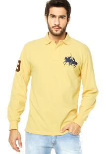 Camisa Polo Polo Ralph Lauren Bordado Amarela